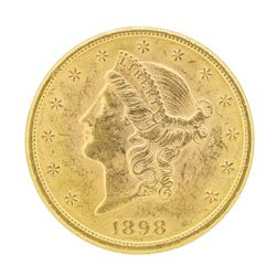 1898 $20 Liberty Head Double Eagle Gold Coin