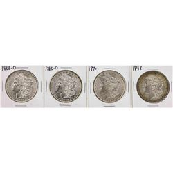Lot of (4) Assorted Date $1 Morgan Silver Dollar Coins