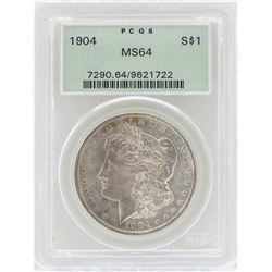 1904 $1 Morgan Silver Dollar Coin PCGS MS64