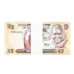 Pack of (90) Zambia 5 Kawacha Uncirculated Notes