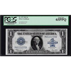 1923 $1 Silver Certificate Note Fr.237 PCGS Gem New 65PPQ