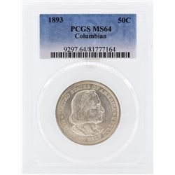 1893 Columbian Centennial Commemorative Half Dollar Coin PCGS MS64