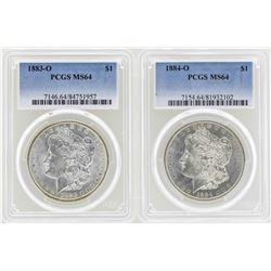 1883-O to 1884-O $1 Morgan Silver Dollar Coins NGC MS64