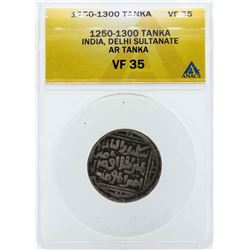 1250-1300 India Tanka Delhi Sultanate Coin ANACS VF35