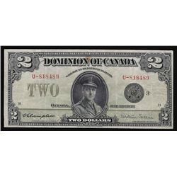 1923 $2 Dominion of Canada Bank Note