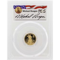 2007-W $5 American Gold Eagle Proof Coin PCGS PR69DCAM Reagan Legacy Series