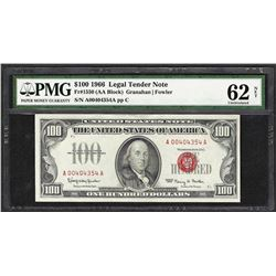 1966 $100 Legal Tender Note Fr.1550 PMG Uncirculated 62 Net