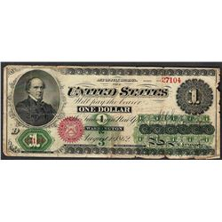 1862 $1 Legal Tender Note
