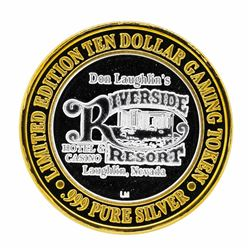 .999 Silver Riverside Resort Hotel & Casino $10 Casino Limited Edition Gaming To
