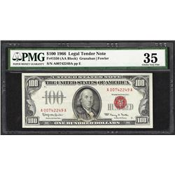 1966 $100 Legal Tender Note Fr.1550 PMG Very Fine 35