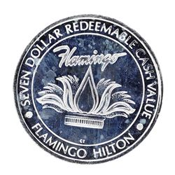 .999 Fine Silver Flamingo Hilton Laughlin, NV $7 Limited Edition Gaming Token