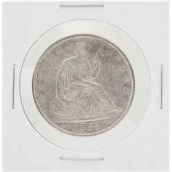 1855 Arrows Seated Liberty Half Dollar Coin
