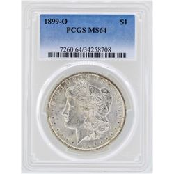 1899-O $1 Morgan Silver Dollar Coin PCGS MS64