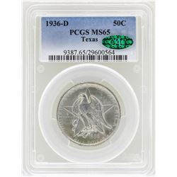 1936-D Texas Commemorative Half Dollar Coin PCGS MS65 CAC