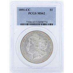 1891-CC $1 Morgan Silver Dollar Coin PCGS MS62