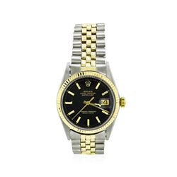 Men's 14KT Yellow Gold and Stainless Steel Rolex Two-Tone Datejust