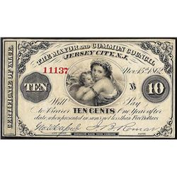 1862 Ten Cents The Mayor and Common Council Obsolete Note