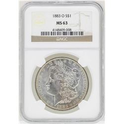 1883-O $1 Morgan Silver Dollar Coin NGC MS63