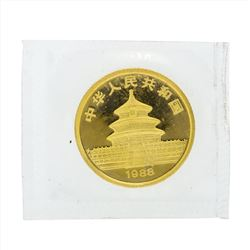1988 10 Yuan China Panda 1/10 oz Gold Coin