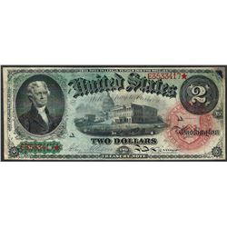 1869 $1 Rainbow Legal Tender Note- Repaired