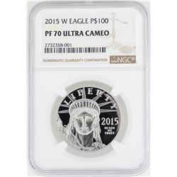2015-W $100 Platinum American Eagle Coin NGC PF70 Ultra Cameo