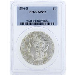 1896-S $1 Morgan Silver Dollar Coin PCGS MS63