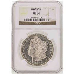 1880-S $1 Morgan Silver Dollar Coin NGC MS64