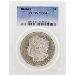 1890-O $1 Morgan Silver Dollar Coin PCGS MS64+