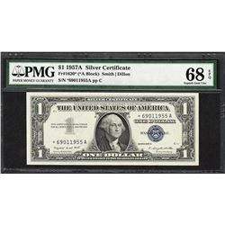 1957A $1 Silver Certificate STAR Note Fr.1620* PMG Superb Gem Uncirculated 68EPQ