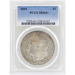 1894 $1 Morgan Silver Dollar Coin PCGS MS64+