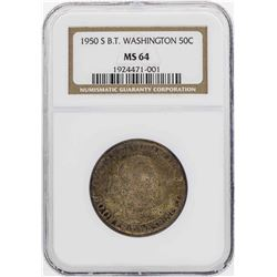 1950-S Booker T. Washington Memorial Half Dollar Coin NGC MS64