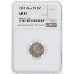 1883 Kingdom of Hawaii Dime Coin NGC AU53