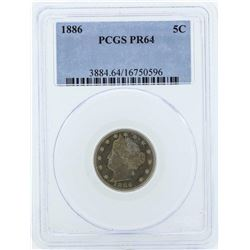 1886 Liberty V Proof Nickel Coin PCGS PR64