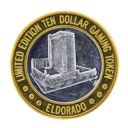 .999 Silver Eldorado Hotel & Casino $10 Casino Limited Edition Gaming Token