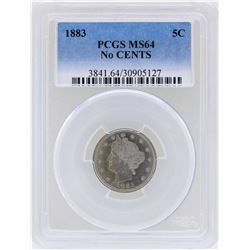 1883 Liberty Head Nickel Coin PCGS MS64