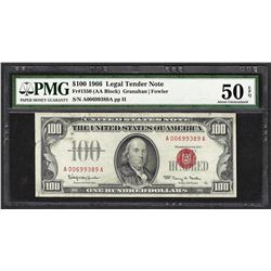 1966 $100 Legal Tender Note Fr.1550 PMG About Uncirculated 50EPQ