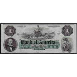 1800's $1 Bank of America Providence Rhode Island Obsolete Bank Note