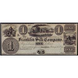 1800's $1 Franklin Silk Company Ohio Obsolete Bank Note