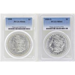 Lot of 1900 & 1900-O $1 Morgan Silver Dollar Coins PCGS MS64
