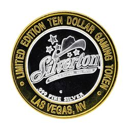 .999 Silver Silverton Casino Las Vegas, NV $10 Casino Limited Edition Gaming Tok