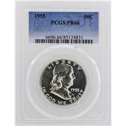 1955 Franklin Half Dollar Coin PCGS PR66