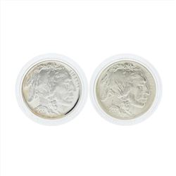Set of (2) 2001 $1 American Buffalo Commemorative Silver Coin Set