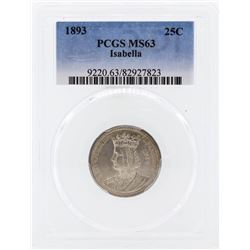 1893 Isabella Commemorative Quarter PCGS MS63
