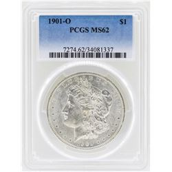 1901-O $1 Morgan Silver Dollar Coin PCGS MS62