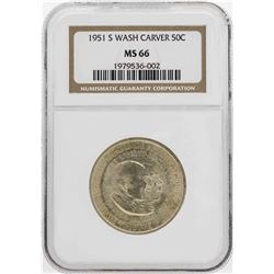 1951-S Booker T. Washington Memorial Half Dollar Coin NGC MS66