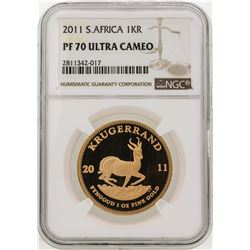 2011 South Africa Krugerrand Gold Coin NGC PF70 Ultra Cameo