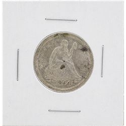1854 Arrows Seated Liberty Quarter Coin