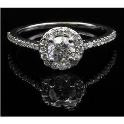 14KT White Gold 0.75 ctw Round Cut Diamond Engagement Ring