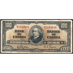 1937 $100 Bank of Canada Note