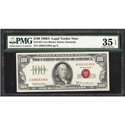 1966A $100 Legal Tender Note Fr.1551 PMG Very Fine 35EPQ
